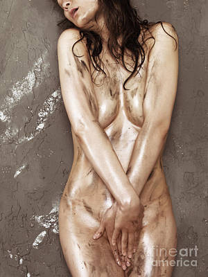 Provocative Photograph - Beautiful Soiled Naked Woman's Body by Oleksiy Maksymenko