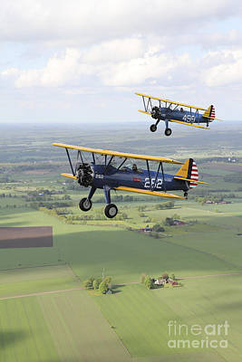 Boeing Stearman Model 75 Kaydet In U.s Art Print by Daniel Karlsson