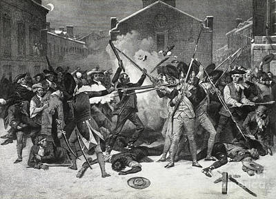 Alonzo Photograph - Boston Massacre, 1770 by Photo Researchers