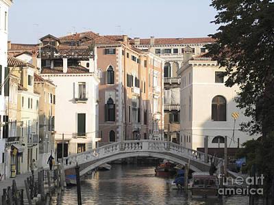Canal. Venice Art Print by Bernard Jaubert