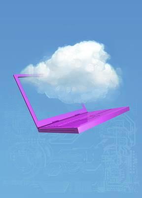 Cloud Computing, Conceptual Artwork Art Print by Victor Habbick Visions