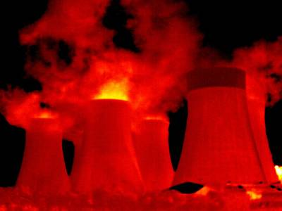 Cooling Towers, Thermogram Art Print by Tony Mcconnell