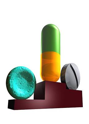 Healthcare And Medicine Photograph - Drugs In Sport, Conceptual Artwork by Victor Habbick Visions