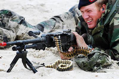 Dutch Royal Marines Taking Part Print by Luc De Jaeger