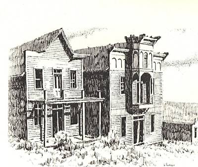 Abandoned Building Drawing - Elkhorn Ghost Town Montana by Kevin Heaney