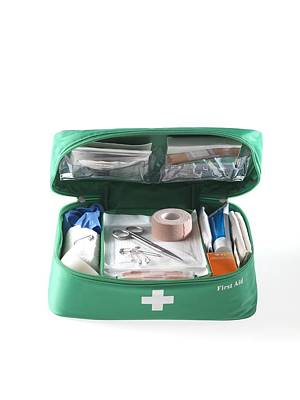Lint Photograph - First Aid Kit by Tek Image