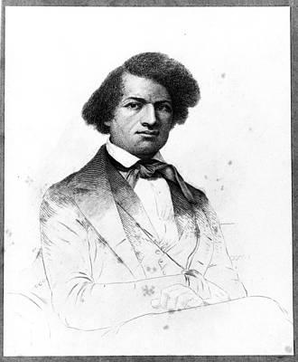 Frederick Douglass Photograph - Frederick Douglass, African-american by Photo Researchers
