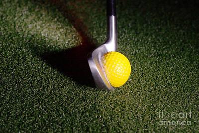 Golf Club Hitting Ball Art Print