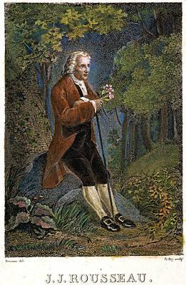 Jean-jacques Rousseau Art Print by Granger