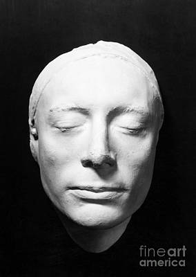 Plaster Mask Photograph - John Keats (1795-1821) by Granger