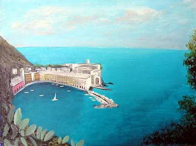Art Print featuring the painting 5 Lands Italy by Larry Cirigliano