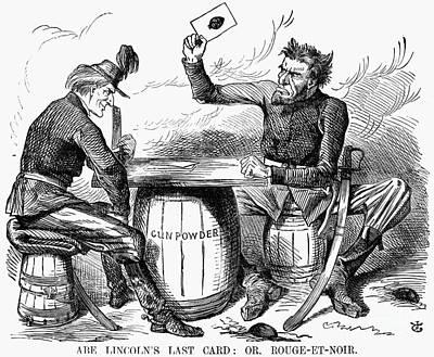 Lincoln Cartoon, 1862 Art Print by Granger