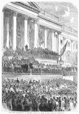 Lincolns Inauguration Art Print by Granger