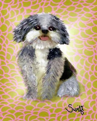 Mixed Breed Painting - Mixed Breed Dog by Char Swift