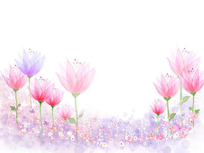 Peaceful Flower Art Print