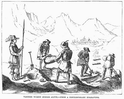 Persecution Of Waldenses Art Print by Granger