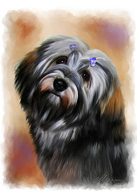 Painting - Pet Dog Portrait by Michael Greenaway