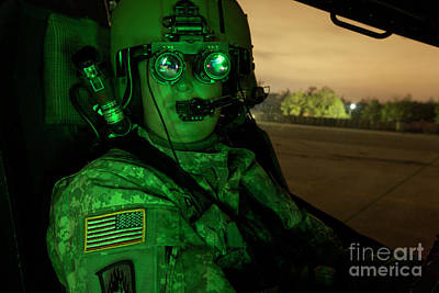 Mick Jagger - Pilot Equipped With Night Vision by Terry Moore