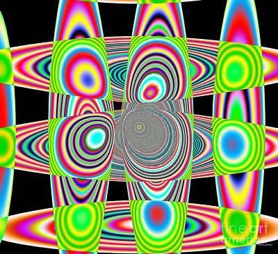 Digital Art - Planetary Rings Maze by Deborah Juodaitis
