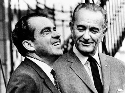 Lyndon Photograph - President Lyndon Johnson by Everett