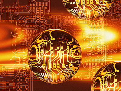 Quantum Computing Art Print by Mehau Kulyk