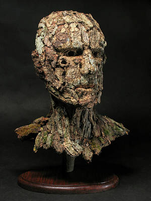 Tree Art Mixed Media - Revered  A Natural Portrait Bust Sculpture By Adam Long by Adam Long
