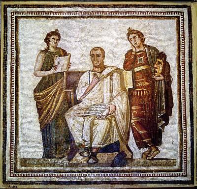 Roman Mosaic Art Print by Sheila Terry
