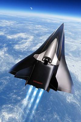Saenger Horus Spaceplane, Artwork Art Print by Detlev Van Ravenswaay