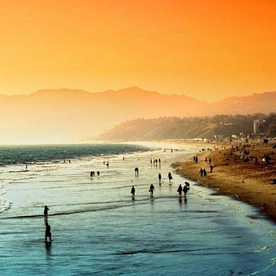 Beautiful Photograph - Santa Monica Beach by Luisa Azzolini