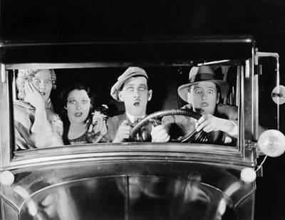 Photograph - Silent Film: Automobiles by Granger