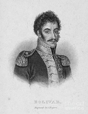 Simon Bolivar (1783-1830) Art Print by Granger