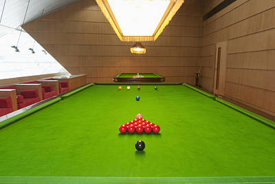 Snooker Room Art Print by Guang Ho Zhu