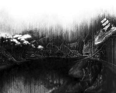Painting - Sorrow Lake by Cliff Lambert