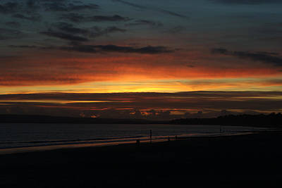 Photograph - Sunset Over Poole Bay by Chris Day