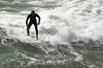 Photograph - Surfing by Chris Day