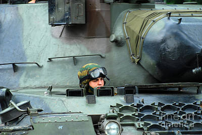 Tank Driver Of A Leopard 1a5 Mbt Art Print by Luc De Jaeger