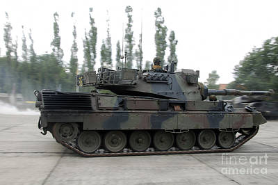The Leopard 1a5 Of The Belgian Army Art Print by Luc De Jaeger