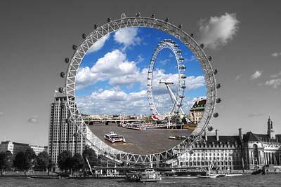 Photograph - The London Eye by Chris Day