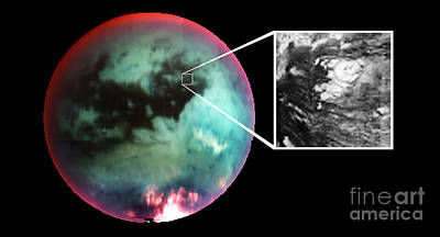 Photograph - Titan, Cassini Image by NASA / Science Source
