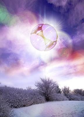 Ufo, Artwork Art Print by Victor Habbick Visions