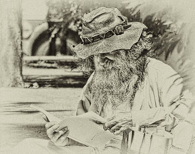 Photograph - Walt Reading by Robert Knight