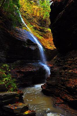 Photograph - Watkins Glen State Park New York   by Puzzles Shum