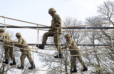Physical Training Photograph - Welsh Guards Perform Basic Training by Andrew Chittock