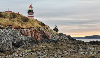 Quoddy Head State Park Photograph - West Quoddy Head Lighthouse by Jack Schultz