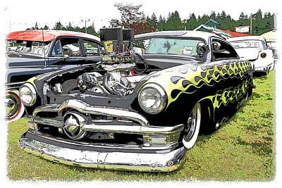 50 Ford Hot Rod Art Print
