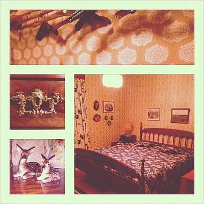 Wallpaper Wall Art - Photograph - 50s And 60s Interior Design by Amanda Koehlmark