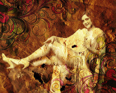 Lingerie Mixed Media - Winsome Woman  by Chris Andruskiewicz