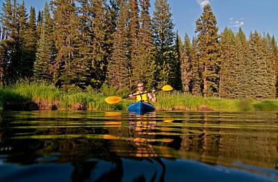 Sara Habecker Folk Print - Kayaking by Elijah Weber
