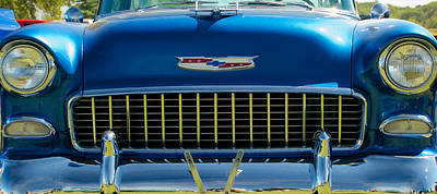 Photograph - 55 Chevy Bel Air Grill by Mark Dodd