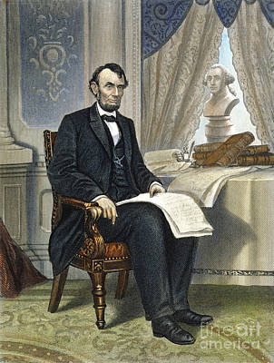 Abraham Lincoln Art Print by Granger